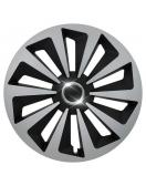 Kryt kola Fox Ring 16&quot , jeden kus - černo/stříbrná