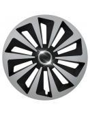 Kryt kola Fox Ring 14&quot , jeden kus - černo/stříbrná