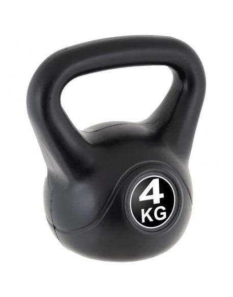 MAXXIVA Kettlebell činka, černá, 4 kg